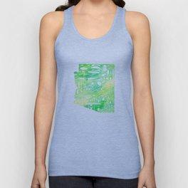 Typographic Arizona - Green Watercolor Unisex Tank Top