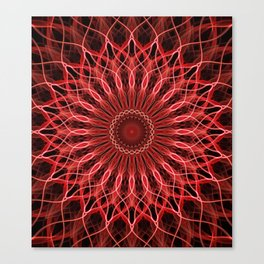 Pretty red an pink detailed mandala Canvas Print