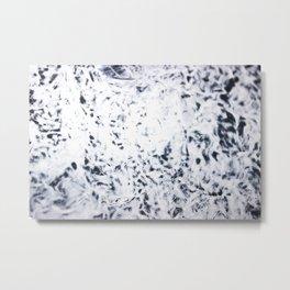 white fuzz Metal Print