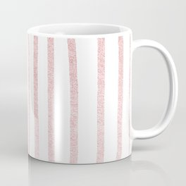 Simply Drawn Vertical Stripes in Rose Gold Sunset Coffee Mug
