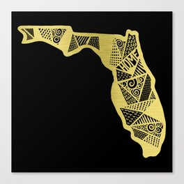 Home in Florida Gold Canvas Print