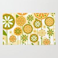 sunshine Area & Throw Rugs featuring Sunshine by Shelly Bremmer