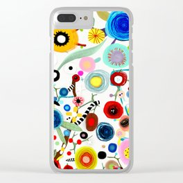 Rupydetequila whimsical floral art 2018 Clear iPhone Case