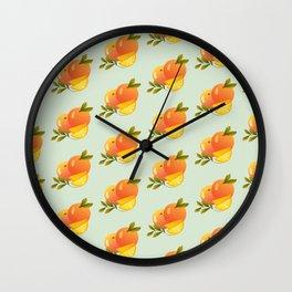 Fruit Series: Oranges version 3 Wall Clock