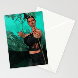 Survivor about to shot someone Stationery Cards