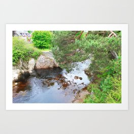 Peaceful stream Art Print