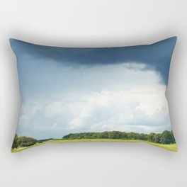 andscape in summer with dramatic clouds before a storm Rectangular Pillow