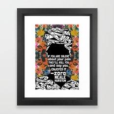 ZNH - If You Are Silent - Black Lives Matter - Series - Black Voices - Floral  Framed Art Print