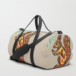 Squirrel watercolor Duffle Bag