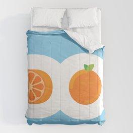 D.O. Orange Logo Comforters