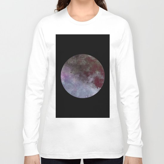 Lonely planet - Space themed geometric painting Long Sleeve T-shirt