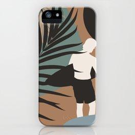 Midnight Surfer Abstract Minimalism #1 #minimal #decor #art #society6 iPhone Case