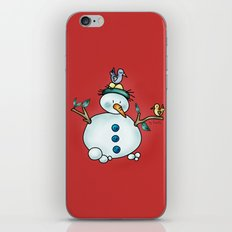 Snowman {Friendly - red} iPhone & iPod Skin