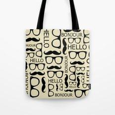 Hello, Bonjour Tote Bag