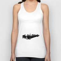 jfk Tank Tops featuring RIP JFK by chipscompany
