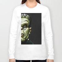 frankenstein Long Sleeve T-shirts featuring Frankenstein by Sergio Bastidas
