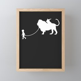 Chimera Pet Walked By Boy Framed Mini Art Print