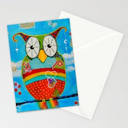 """Bohemian Owl"" Stationery Cards"