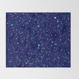Twinkle Blue Stars2 Throw Blanket
