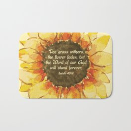 The Word of our God will stand forever Bath Mat