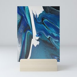 Sequence in Blue Mini Art Print