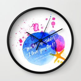 """Percy Jackson Percabeth House of Hades """"I love you too!"""" Quote Wall Clock"""