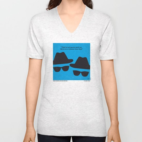 No012 My Blues brothers minimal movie poster Unisex V-Neck