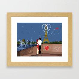 Valentines in Paris Framed Art Print