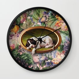 A small joke with a dog Wall Clock