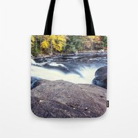 rush Tote Bags featuring rush by Bonnie Jakobsen-Martin