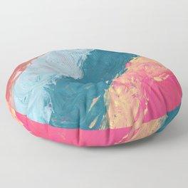 Rainbow Swirl Floor Pillow