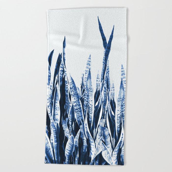 Blue Duotone Beach Towel