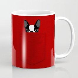 Pocket Boston Terrier Coffee Mug