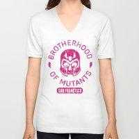 xmen V-neck T-shirts featuring Bad Boy Club: Brotherhood of Mutants  by Josh Ln