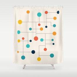 Mid Century Retro Pop Art 015 Shower Curtain
