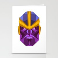 thanos Stationery Cards featuring THANOS by rybbrybson