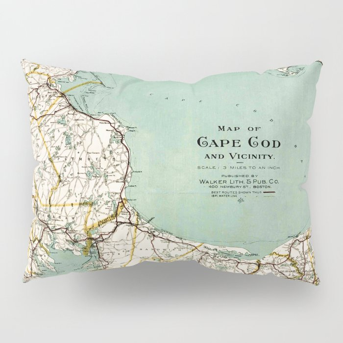 cap cod and vicinity map pillow sham by mapmaker society6