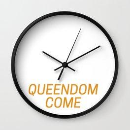 Queendom Come Wall Clock