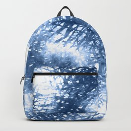 Ink Blue Watercolor Painting Minimalist Design Backpack