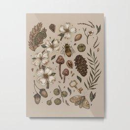 Nature Walks (Light Background) Metal Print