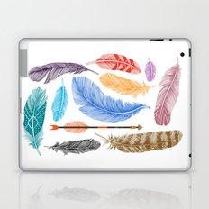 Feathers on White Laptop & iPad Skin
