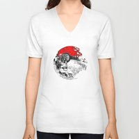 pokeball V-neck T-shirts featuring POKEBALL by Smart Friend