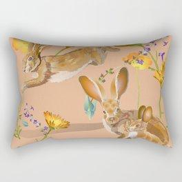 Jackrabbits Joy to Spring Rectangular Pillow