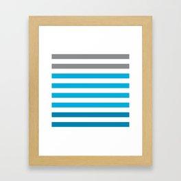 Stripes Gradient - Blue Framed Art Print