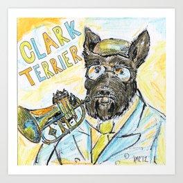Clark Terrier Art Print