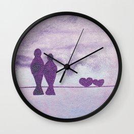 pajaros Love  Wall Clock