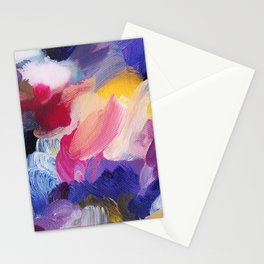 Robbie Abstract Painting Stationery Cards