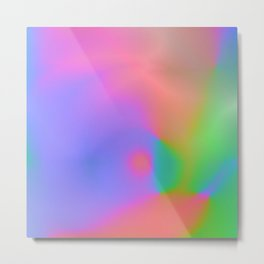 Iridescent Neon Rainbow Background No.1 Metal Print