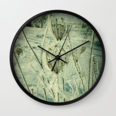 Ice Flower Wall Clock