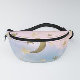 Pastel Starry Sky Moon Dream #1 #decor #art #society6 Fanny Pack